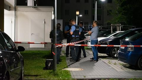 Ein Großeinsatz der Polizei in Groß-Gerau.