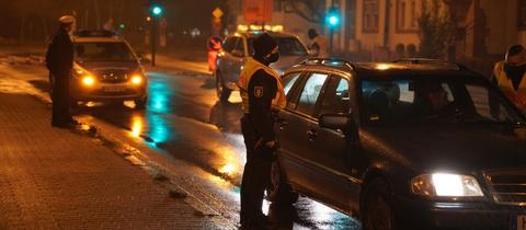Kontrolle Polizei Ausgangssperre