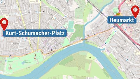 Tatorte in Hanau