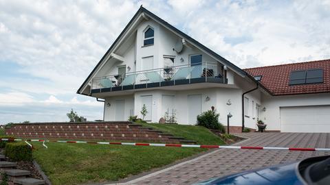 Das Haus des verstorbenen Kasseler Regierungspräsidenten Walter Lübcke in Wolfhagen