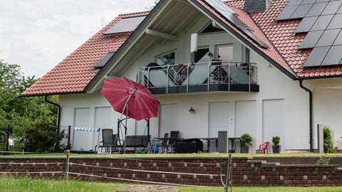 Terrasse des Wohnhauses der Familie Lübcke in Wolfhagen-Istha.