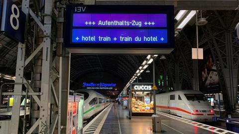 Aufenthaltszug am Frankfurter Hauptbahnhof