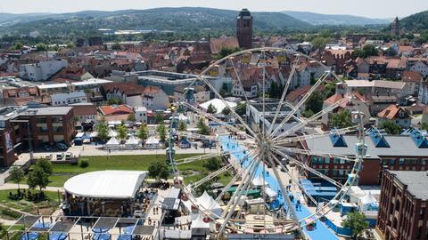 Panorama-Aufnahme vom Hessentagsgelände in Bad Hersfeld