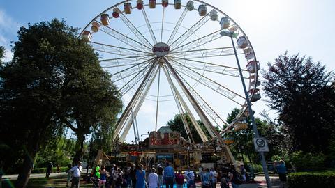 Das Riesenrad auf dem Hessentag in Korbach