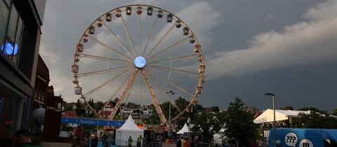 Das Riesenrad auf dem Hessentag
