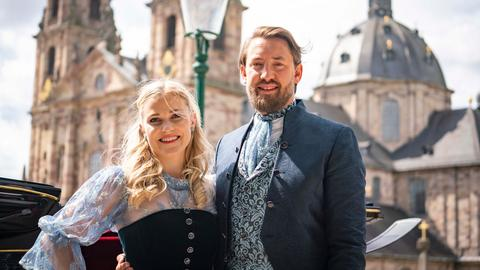 Das Fuldaer Hessenags-Paar Vera Vogt und und Max Dudyka