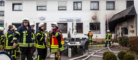 Das Hotelrestaurant wurde bei dem Feuer stark beschädigt.