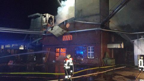 Brand im Sägewerk in Dipperz