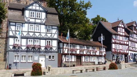 Fachwerkhäuser am Marktplatz von Homberg/Efze