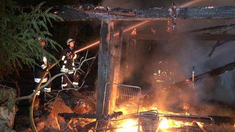 Vier Hunde sind bei einem Hausbrand in Wald-Michelbach verendet