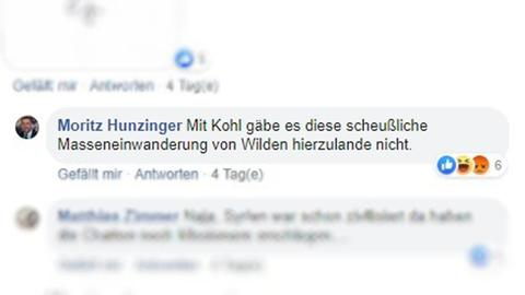 Hunzingers Beitrag auf Facebook