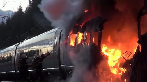 brennender ICE auf Strecke zwischen Köln und Frankfurt