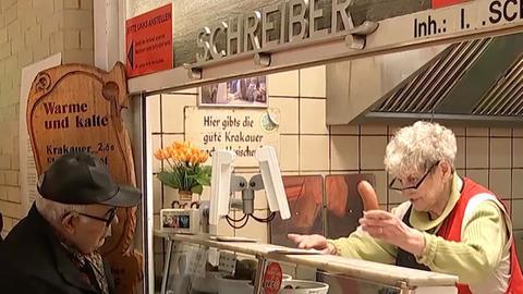 Ilse Schreiber in der Kleinmarkthalle