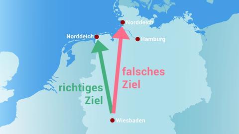 Norddeich oder Norddeich?: Für Schulklasse wird Klassenfahrt zur Irrfahrt