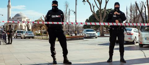 Sicherheitskräfte in Istanbul