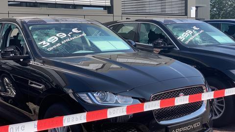 Jaguar Autohaus Vandalismus