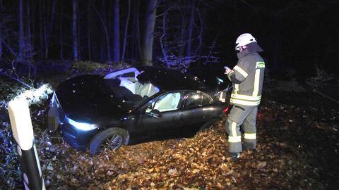 Verunglückter Jaguar bei Bad Hersfeld