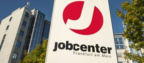 Schild Jobcenter Frankfurt
