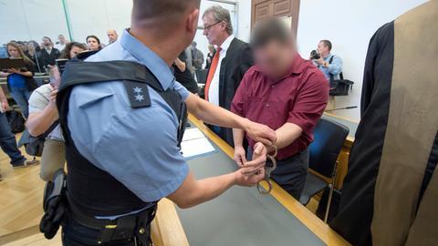 Angeklagter im Landgericht Gießen