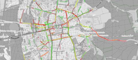 Visualisierung der Sensor-Daten des ADFC Darmstadt-Dieburg