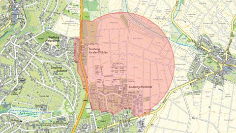 Karte Evakuierung Bierstadt