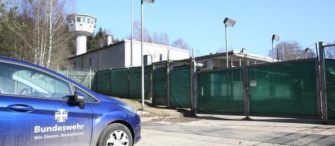 Blick auf Bundeswehr-Kaserne in Pfullendorf