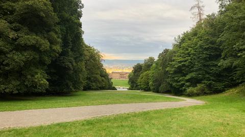 Blick vom Kasseler Bergpark auf die Stadt