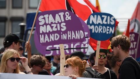Anti-rechte Demo in Kassel