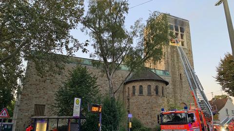 Kirchenbrand in Wiesbaden