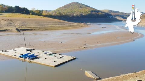 Schlecht für Wassersportler: Der Edersee leidet unter Niedrigwasser.