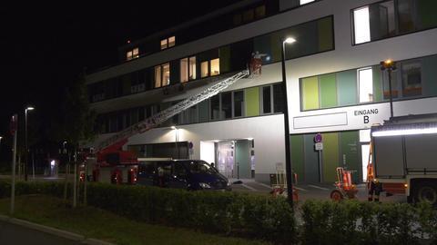 Spurensicherung am Krankenhaus in Heppenheim