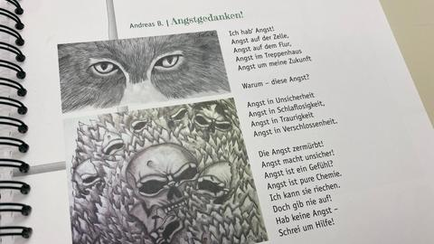 """Ein illustrierter Text mit dem Titel """"Angstgedanken"""""""
