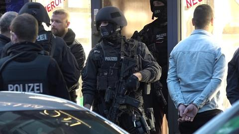 Kollegah Videodreh Frankfurt Polizei
