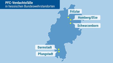 Die fünf hessischen Verdachtsfälle: Wurden hier die Böden durch Löschmittel verseucht?