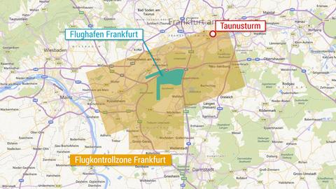 Kontrollzone Flughafen Frankfurt