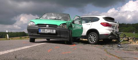 Unfallort auf der L3477 zwischen Wembach-Hahn und Groß-Bieberau