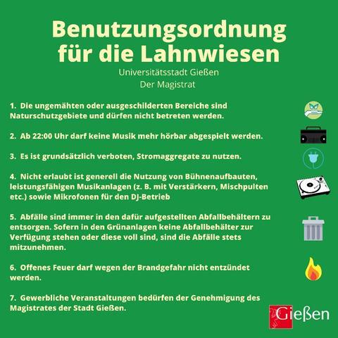 Benutzungsordnung Lahnwiesen