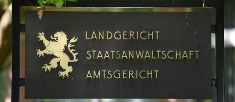 Schild  Landgericht Marburg