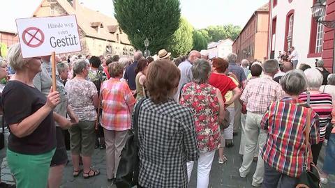 Protest für den Erhalt des Landgestüts in Dillenburg