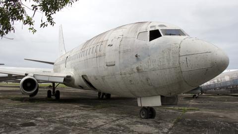 """Die """"Landshut"""" heute auf einem Flughafen in Fortaleza"""