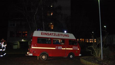 Feuerwehr-Auto an der Einsatzstelle