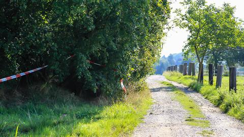 Am Fundort der leblosen Frau in Hofheim