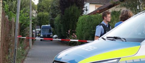 Der Tatort in Erlensee wurde abgesperrt.