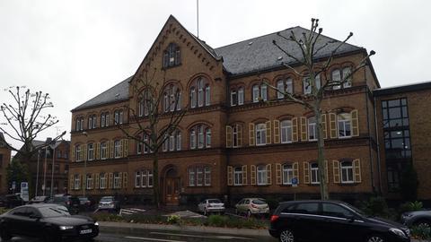 Das Landgericht Limburg am Tag nach dem Lkw-Vorfall.