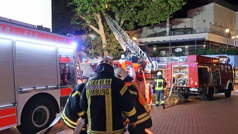 Brand Feuerwehr Stadthalle Limburg