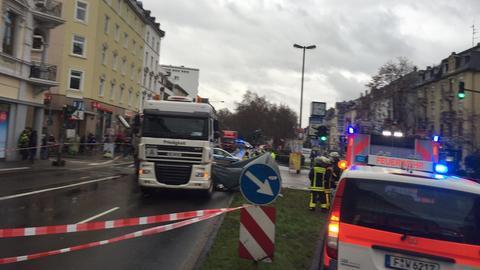 Unfallstelle im Frankfurter Nordend