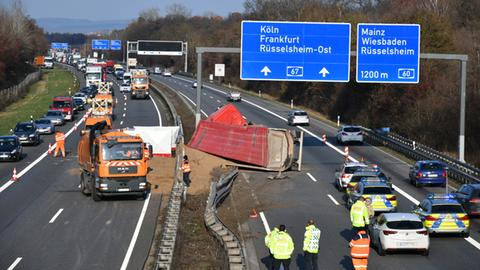Unfallstelle auf der A67