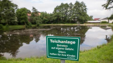 Ort des Unglücks: Der Löschteich in Neukirchen