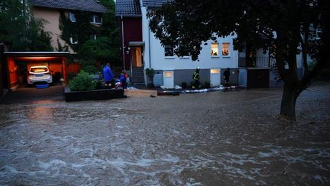 Straßen sind überflutet