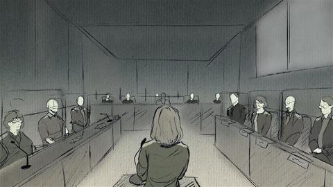 Frau im Gericht (Format 16zu9)